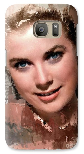 Grace Kelly, Vintage Hollywood Actress Galaxy S7 Case by Mary Bassett