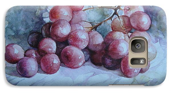 Galaxy Case featuring the painting Grapes... by Elena Oleniuc