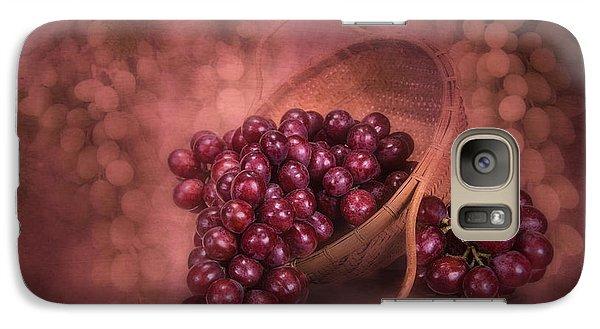 Grapes In Wicker Basket Galaxy Case by Tom Mc Nemar