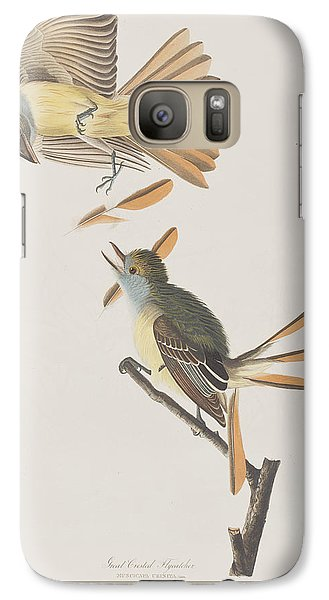 Flycatcher Galaxy S7 Case - Great Crested Flycatcher by John James Audubon