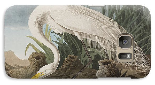 Great Egret Galaxy S7 Case by John James Audubon