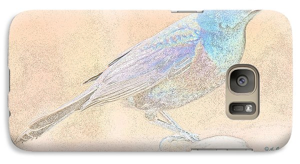 Galaxy Case featuring the digital art Great Tailed Grackle by A Gurmankin