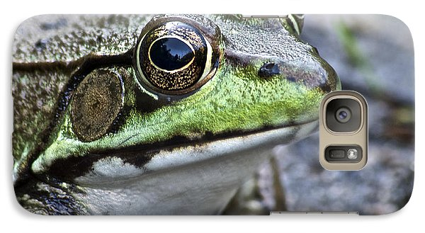 Galaxy Case featuring the photograph Green Frog by Michael Peychich