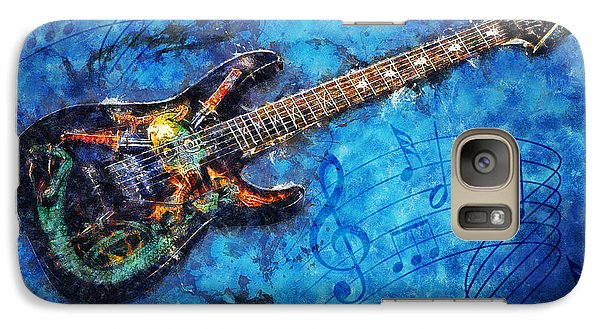Galaxy Case featuring the digital art Guitar Love by Ian Mitchell