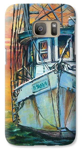 Galaxy Case featuring the painting Gulf Coast Shrimper by Dianne Parks