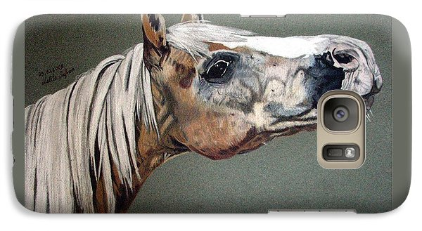 Galaxy Case featuring the drawing Haflinger by Melita Safran