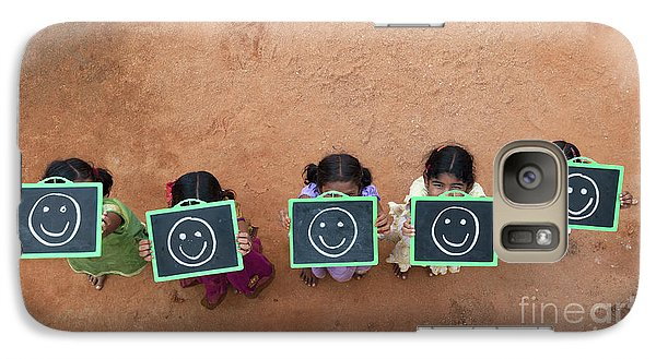 Galaxy Case featuring the photograph Happy Smiley Faces by Tim Gainey