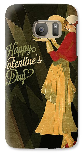 Galaxy Case featuring the digital art Happy Valentines Day by Jeff Burgess