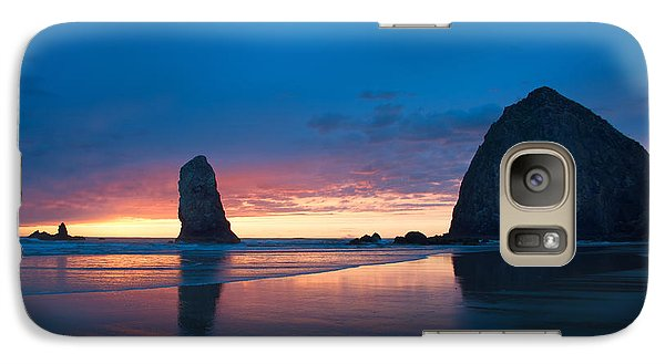 Galaxy Case featuring the photograph Haystack Rock by Jerry Cahill