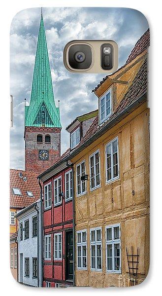 Galaxy Case featuring the photograph Helsingor Narrow Street by Antony McAulay