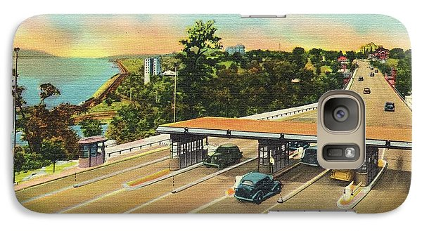 Henry Hudson Bridge Postcard  Galaxy S7 Case