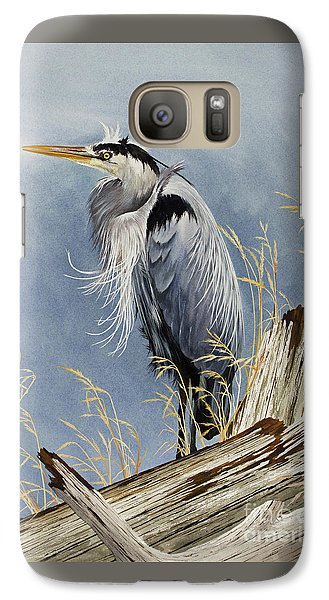 Galaxy Case featuring the painting Herons Windswept Shore by James Williamson