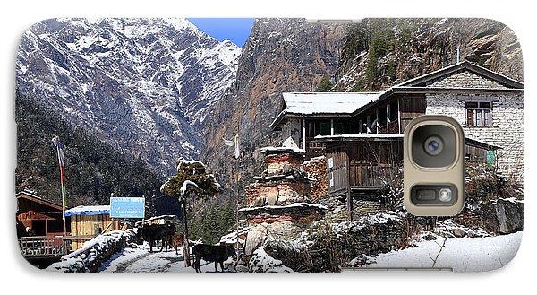 Galaxy Case featuring the photograph Himalayan Mountain Village by Aidan Moran