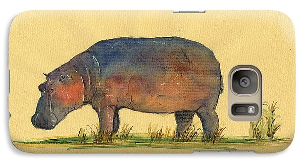 Hippo Watercolor Painting  Galaxy S7 Case