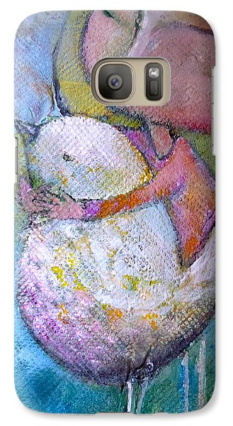 Galaxy Case featuring the painting Hold Your Peace by Eleatta Diver