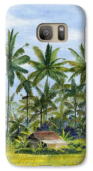 Galaxy Case featuring the painting Home Bali Ubud Indonesia by Melly Terpening