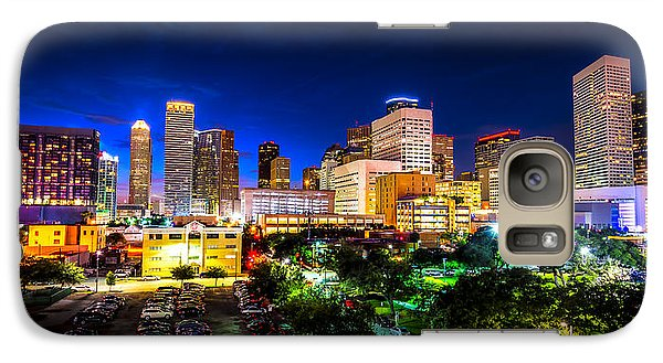 Galaxy Case featuring the photograph Houston City Lights by David Morefield
