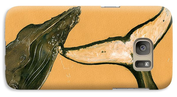 Humpback Whale Painting Galaxy Case by Juan  Bosco