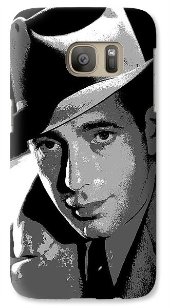 Galaxy Case featuring the mixed media Humphrey Bogart by Charles Shoup