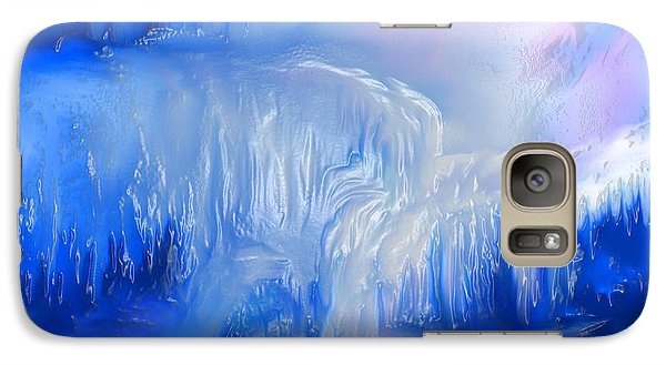 Galaxy Case featuring the painting Ice Falls by Sherri  Of Palm Springs