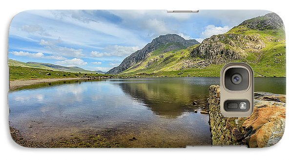 Galaxy Case featuring the photograph Idwal Lake Snowdonia by Adrian Evans