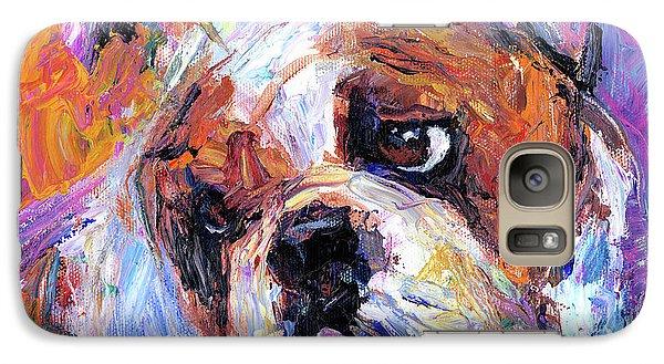 Impressionistic Bulldog Painting  Galaxy Case by Svetlana Novikova