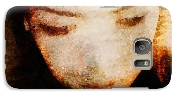 Galaxy Case featuring the digital art In Thoughts by Gun Legler