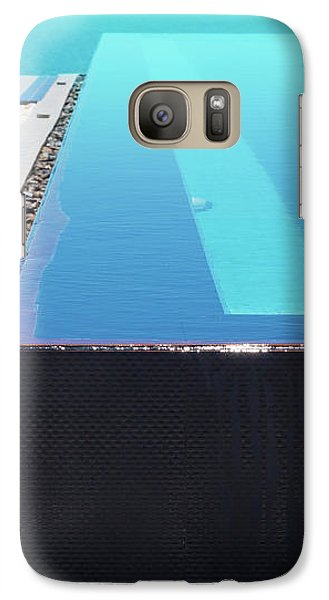 Galaxy Case featuring the photograph Infinity Pool by Atiketta Sangasaeng
