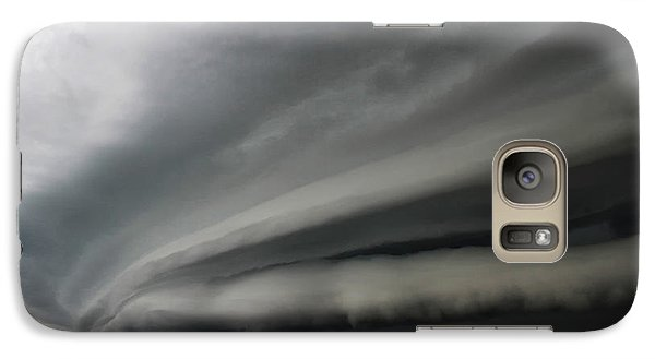 Galaxy Case featuring the photograph Intense Shelf Cloud by Ryan Crouse