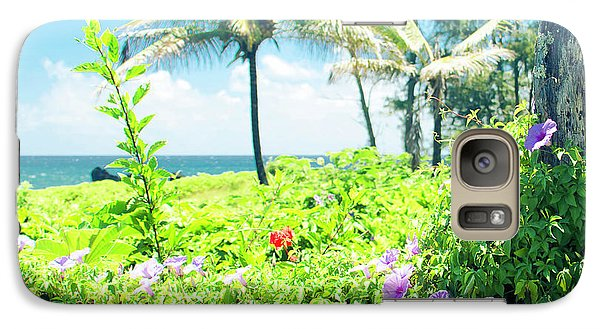 Galaxy Case featuring the photograph Ipomoea Keanae Morning Glory Maui Hawaii by Sharon Mau