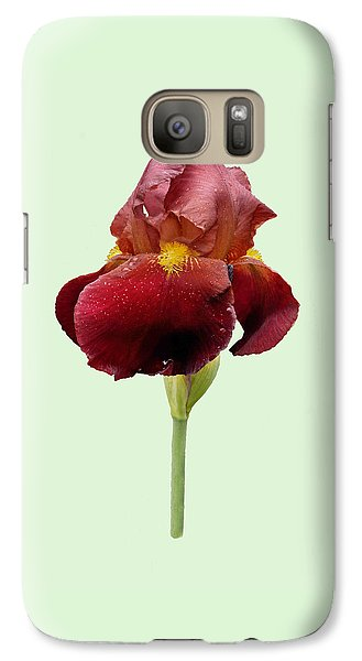 Galaxy Case featuring the photograph Iris Vitafire Green Background by Paul Gulliver