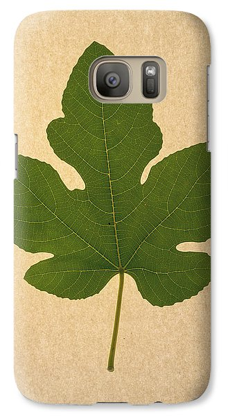 Galaxy Case featuring the photograph Italian Honey Fig Leaf by Frank Wilson