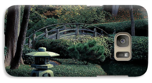 Galaxy Case featuring the photograph Japanese Garden In Summer by Iris Greenwell