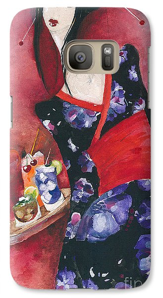 Galaxy Case featuring the painting Japanese Girl by Maya Manolova