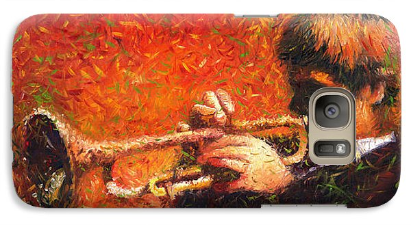 Jazz Galaxy S7 Case - Jazz Trumpeter by Yuriy Shevchuk