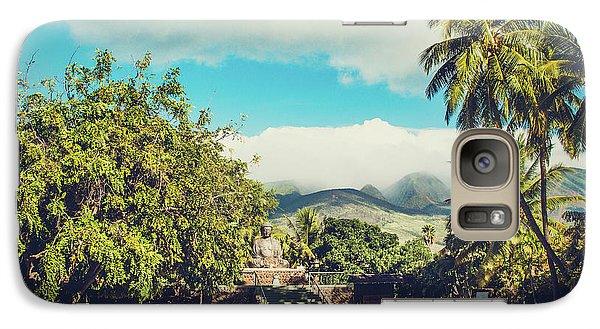 Galaxy Case featuring the photograph Jodo Shu Mission Lahaina Maui Hawaii by Sharon Mau