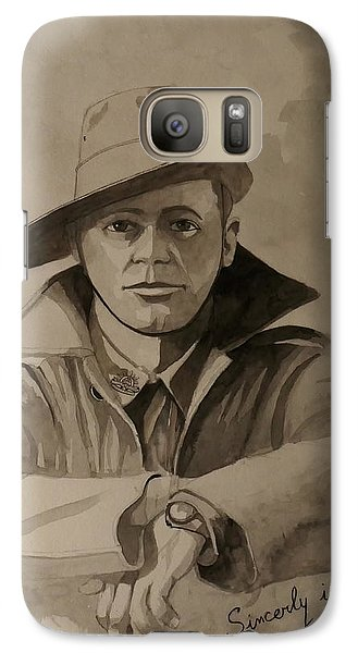 Galaxy Case featuring the painting Joe by Ray Agius