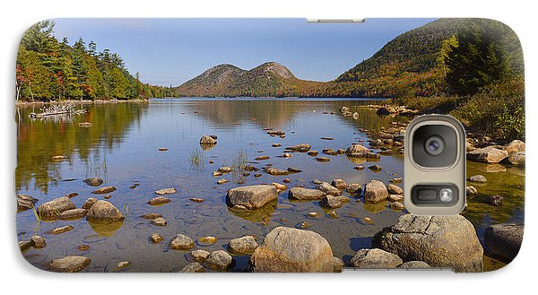 Galaxy Case featuring the photograph Jordan Pond In Autumn by Stephen  Vecchiotti