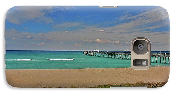 Galaxy Case featuring the photograph 1- Juno Beach Pier by Joseph Keane