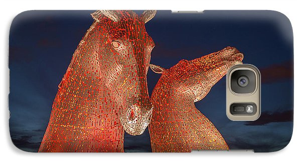 Galaxy Case featuring the photograph Kelpies by Terry Cosgrave