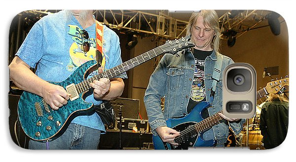 Galaxy Case featuring the photograph Kerry Livgren And Steve Morse Kansas by Don Olea