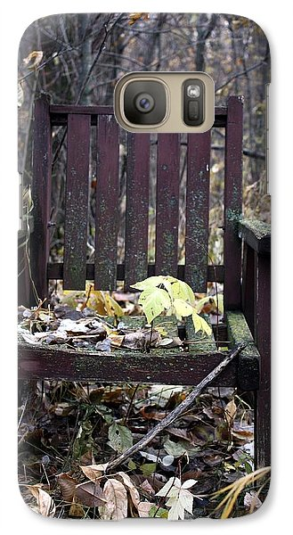 Galaxy Case featuring the photograph Keven's Chair by Pat Purdy