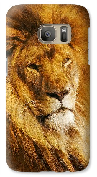 Galaxy Case featuring the digital art King Of The Beasts by Ian Mitchell