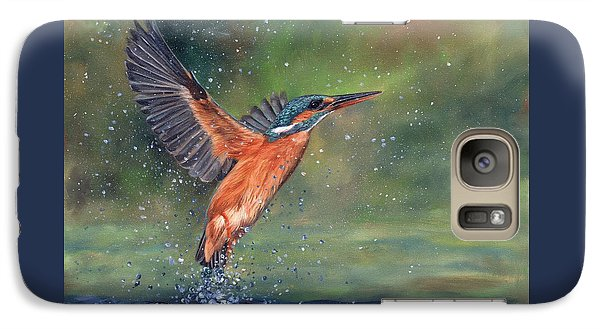 Galaxy Case featuring the painting Kingfisher by David Stribbling