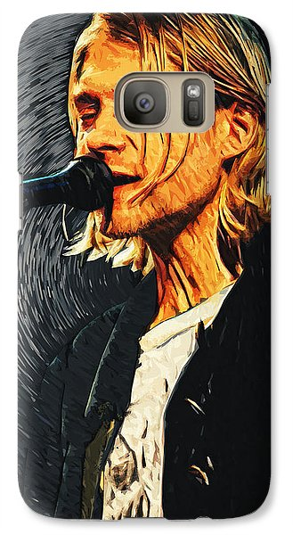 Kurt Cobain Galaxy Case by Taylan Apukovska