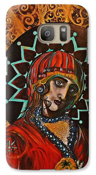 Galaxy Case featuring the painting Lady Of Spades by Sandro Ramani