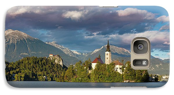 Galaxy Case featuring the photograph Lake Bled Evening by Brian Jannsen