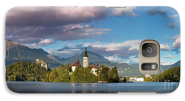 Galaxy Case featuring the photograph Lake Bled Panoramic by Brian Jannsen