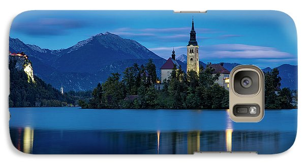 Galaxy Case featuring the photograph Lake Bled Twilight by Brian Jannsen