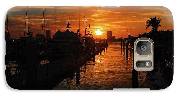 Galaxy Case featuring the photograph 1- Lake Park Marina by Joseph Keane